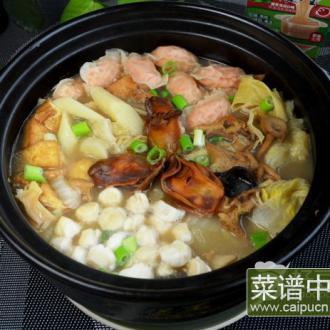 浓汤鲜味砂锅煲