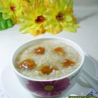 柿饼燕麦片大米粥