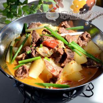 腊羊肉炖萝卜