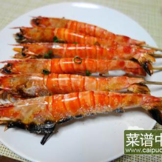 盐烤凤尾虾