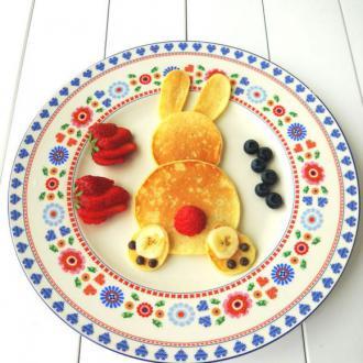小兔子香蕉松饼