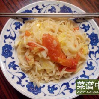 洋白菜西红柿烩面