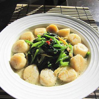 新鲜带子菠菜