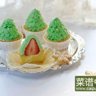 圣诞树杯子蛋糕
