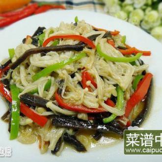 大头菜炒金针菇