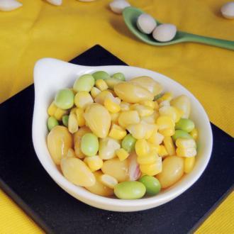 银杏炒玉米