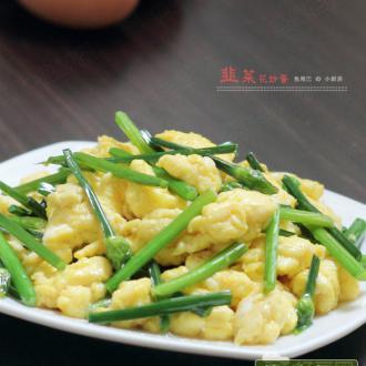 韭菜花炒鸡蛋