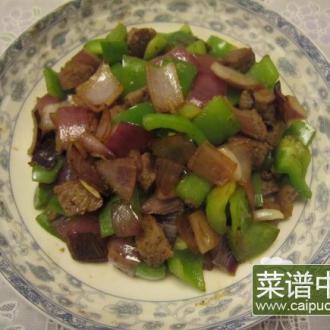 柿子椒洋葱炒肉丁