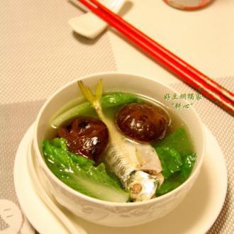 香菇小白菜鱼汤