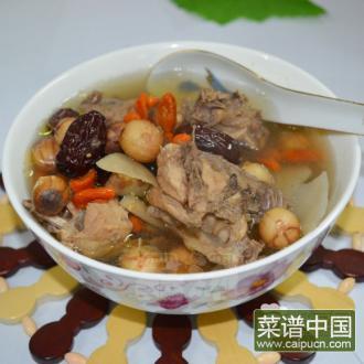 红莲淮山鸡汤