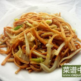 白菜炒馓子