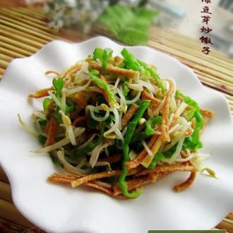 绿豆芽炒馓子