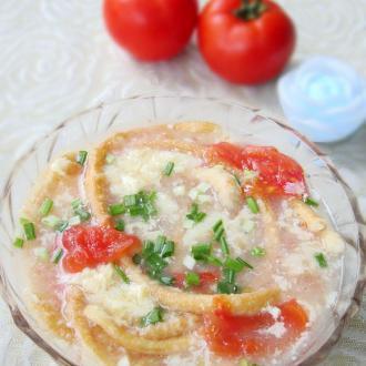 西红柿鸡蛋馓子汤