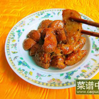 红糖炒酿豆腐