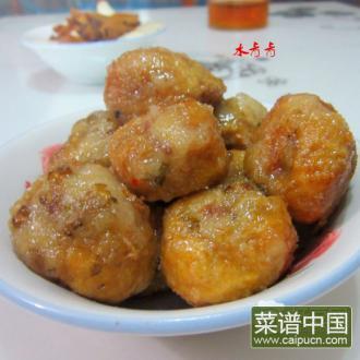 糖炒酿豆腐