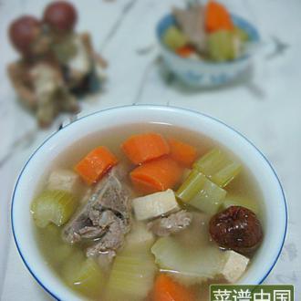 杂菜骨头汤