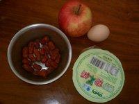 苹果酒酿鸡蛋汤的做法步骤1