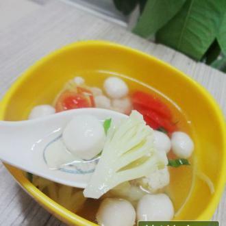 清淡爽口——花菜圆子