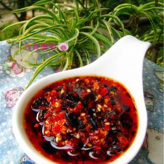 萝卜干豆豉辣椒油