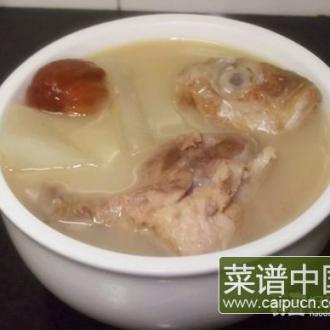 咸鱼头煲萝卜汤