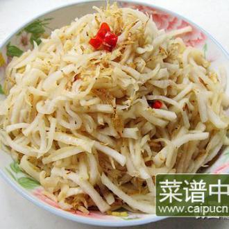 虾米炒萝卜丝