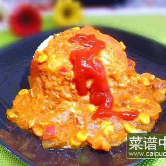 茄汁泡菜拌饭