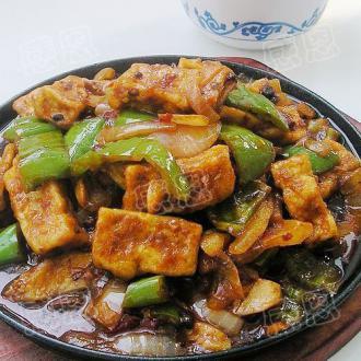 铁板飘香豆腐