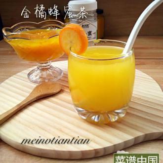 金橘蜂蜜茶#多效护理