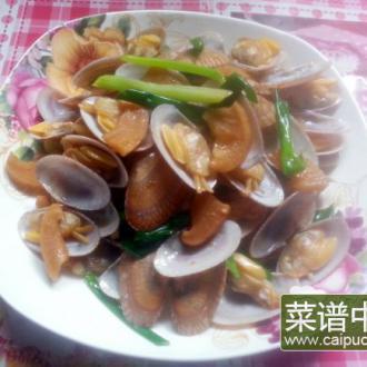 潮汕菜脯炒花蛤