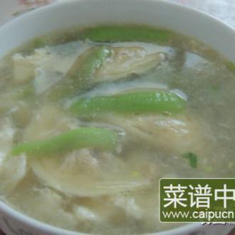 丝瓜蛋饺汤