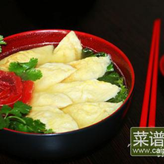 青菜烩蛋饺