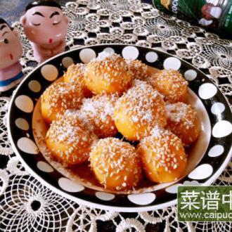 椰香蜜汁薯球