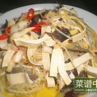 豆芽炒文蛤肉