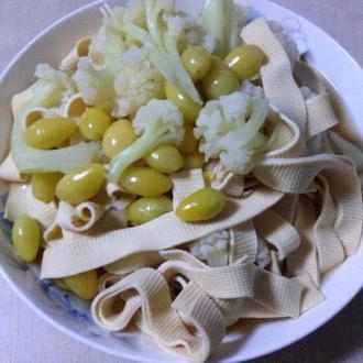 花菜干丝炒白果