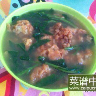 酥肉富贵菜汤