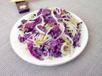 紫甘蓝炒银芽的做法步骤9