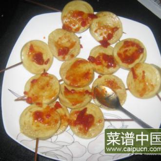 烧烤豆腐卷和肠