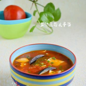 茄汁豆花皮蛋汤