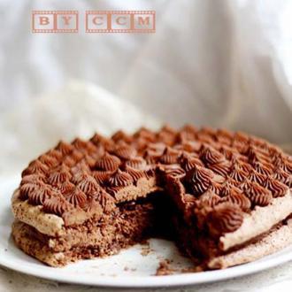 双重巧克力薄脆蛋糕