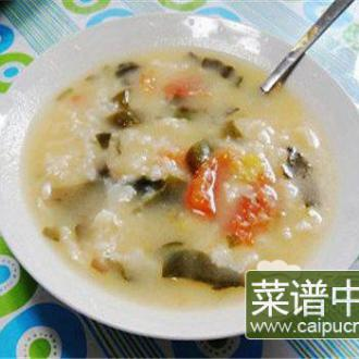 西红柿海带片疙瘩汤