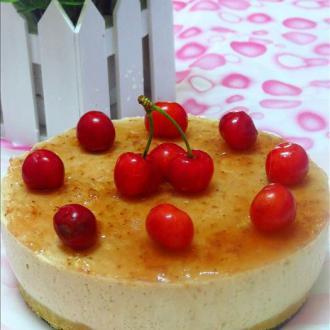 樱桃酸奶慕斯蛋糕(免
