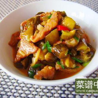 酸黄瓜炒肉片