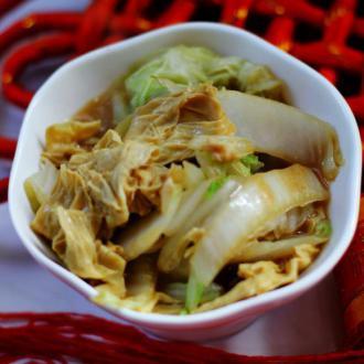白菜炒豆筋