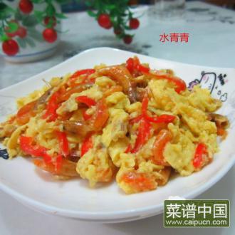 米椒米虾煎蛋