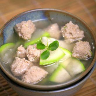 葫芦丸子汤
