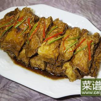 红烧山药豆腐衣百叶包