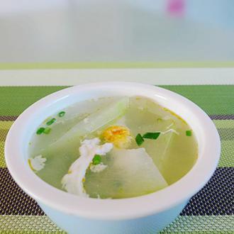 节瓜滚咸蛋汤
