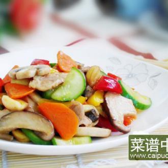 彩蔬炒肉片