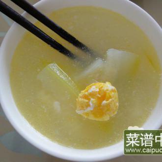 节瓜咸蛋汤