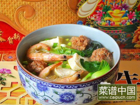 肉丸子炖冻豆腐